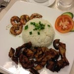 prawns and pork with rice