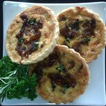 Caramalised Onion, Feta & Thyme Tarts