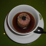 1st Omakase course.  Toro (fatty tuna)