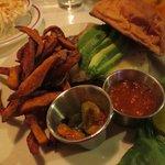 Big fan of the sweet potato fries amd spicy slaw