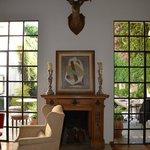 Fireplace / doors to garden