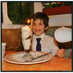 Jordan celebrates his 8th birthday at Portofino.