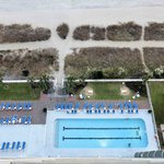 Outdoor Pool and beach from Room 1508 balcony
