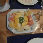 Breakfast -first course fruit plate