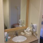 Vanity area; outside actual bathroom