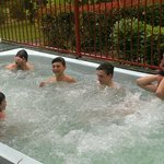 Boys in the spa
