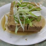 Steamed tofu.