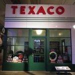 replica of a Texaco service station