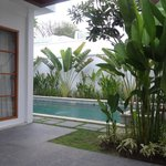 View of the pool from Villa entrance