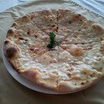 3 Cheeses Pizza at Bella Italia Ristorante Italinao, Batam