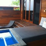 balcony with plunge pool