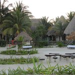 Hotellet från stranden
