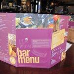 Bar menu example