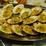 steamed scallops ( highly recommended )