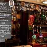The beers and cider blackboard