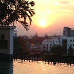 sunset at Le Meridien pool