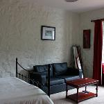 A luxurious Double bedroom overlooking the garden with a beautiful king sized bed. There is also