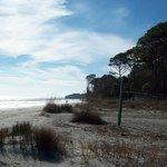 Serene beach area