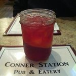 Moonshine cocktail in Mason jar