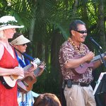 Ukulele Players at Mai Tai party