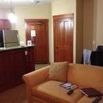1br suite, right above Starbucks! Perfection! Everything we could ever need!