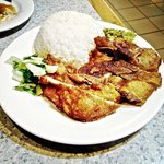 Pork Chop or Pork Rib with Rice