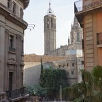 Looking at Barcelona's Cathedral of Santa Eulalia