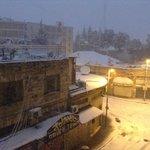 A rare snow in Jerusalem