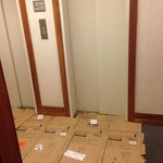 welcome by carboard boxes !