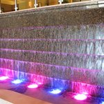 Fountain in lobby