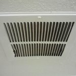 Notice no dust whatsoever in bathroom vent
