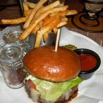 Burger from the Hyatt. Good.