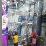 Fun energetic air room...sort of like an inhouse vacume cleaner but clear, larger and much more