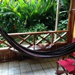 hammock outside the cabina