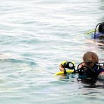 Kids doing one of their open water sessions