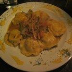 Fish ravioli