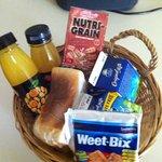 Basket breakfast in the fridge every day