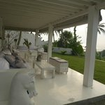 Lounge area with a sea view