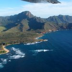 Kaua'i from the air on our tour