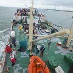 Main deck onboard (which by the way was all green the next time I went onboard!)