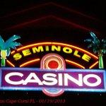 Casino sign at night.