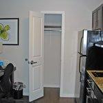 coat closet in kitchen area