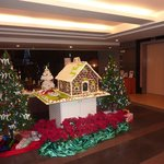 decoration Noël entrée de l'hotel