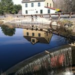 the mill from the dock on the pond