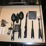 cooking utensils in drawer