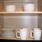 dining ware in cabinet