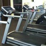 fitness room looking toward mirrors