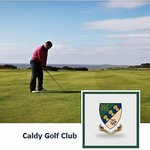 Caldy Pro, Alan, playing down the 5th hole.