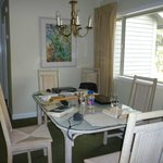 Dining room at front of unit