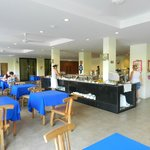 Sala interna e isole buffet